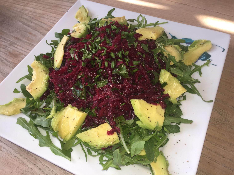 Beetroot, Arugula & Cilantro Salad