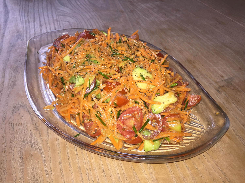 Carrot, Avocado & Grape Tomato Salad