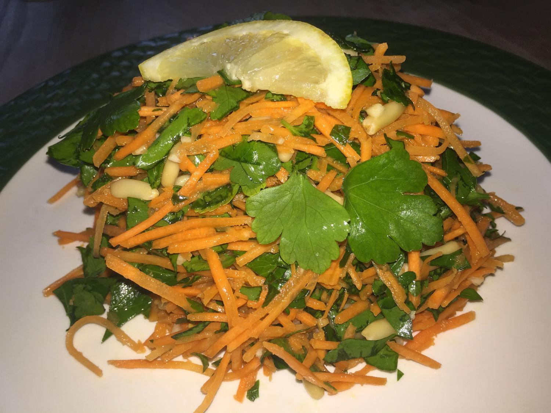 Carrot, Parsley & Pine Nut Salad