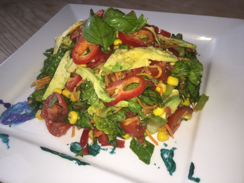 Romaine, Corn & Apple Cider Vinegar Salad